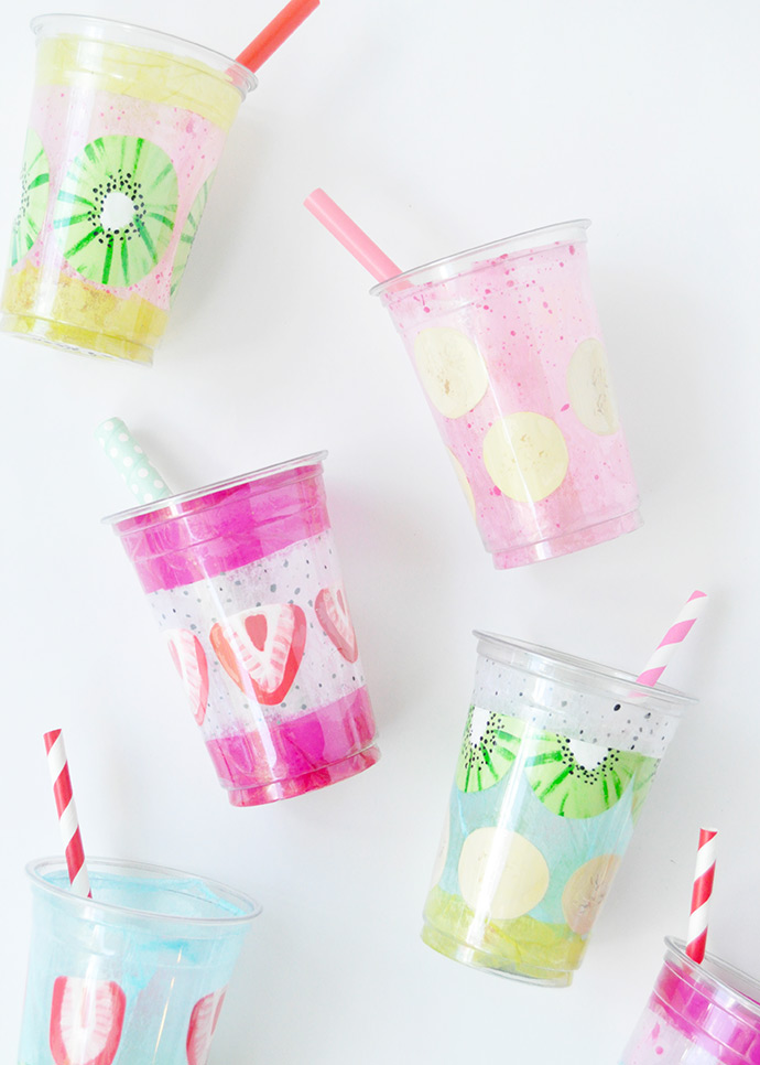 Painted Smoothie Cups