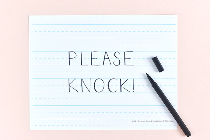 photograph about Please Knock Sign Printable titled Printable Faculty-Style and design Area Symptoms ⋆ Selfmade Charlotte