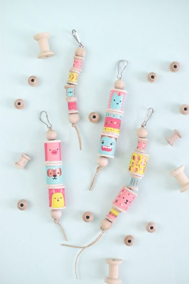 Silly Spool Totem Pole Backpack Charms