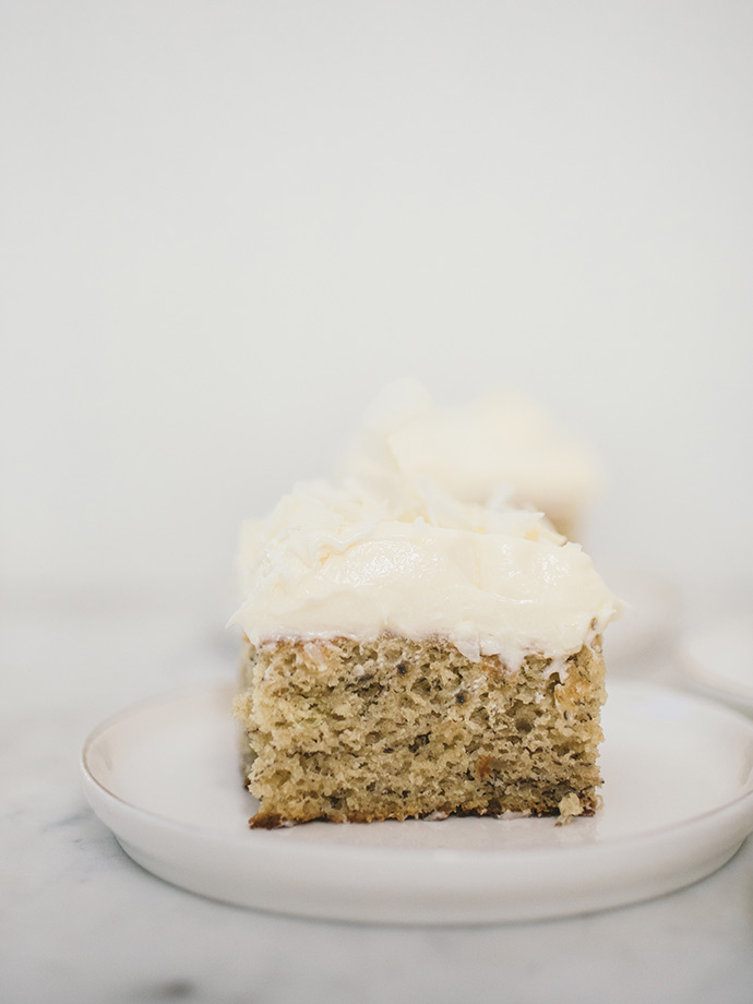 Banana Cake with Coconut Buttercream
