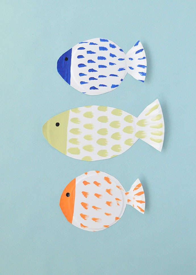 Painted Paper Plate Fish