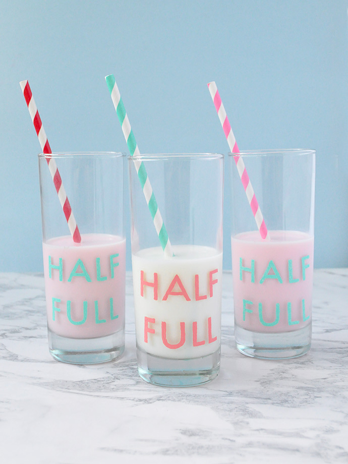 DIY Painted Glassware