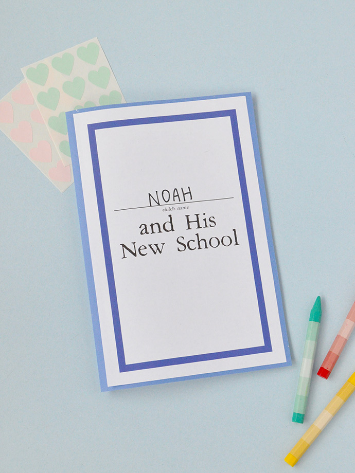 Make a Storybook for Back-to-School