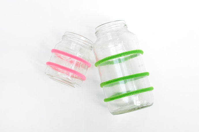 Woven Pipe Cleaner Jars