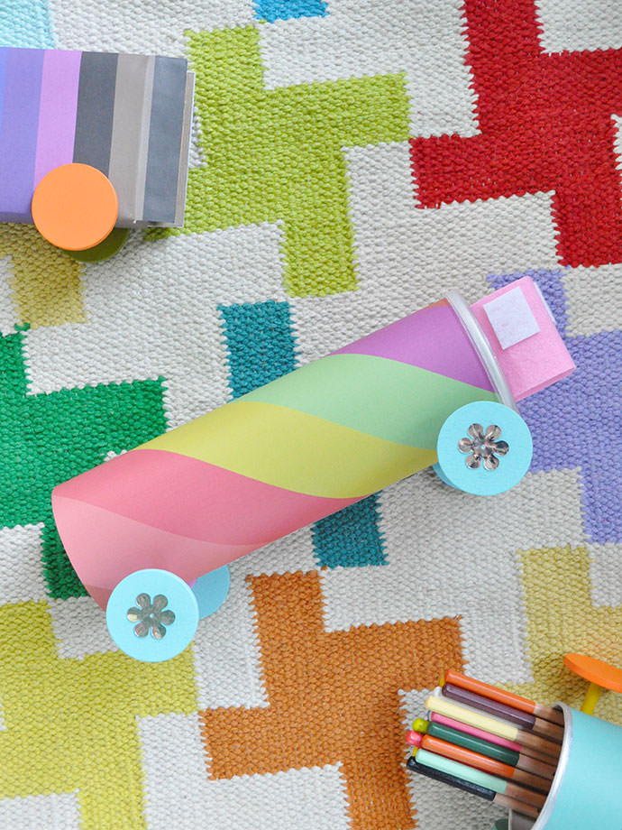 DIY Recycled Toy Trucks