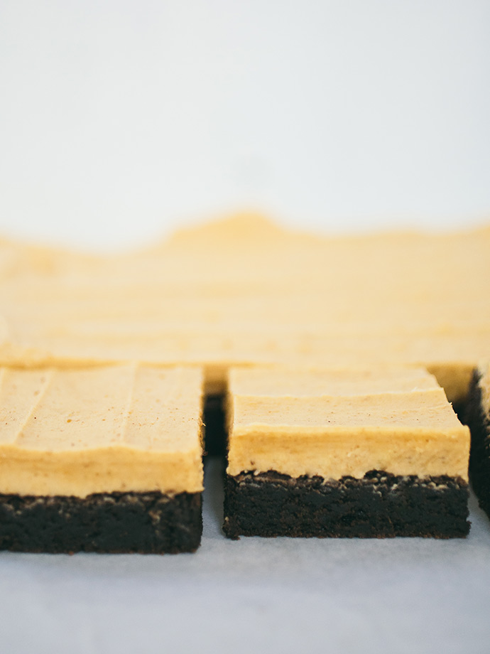 Brownies with Pumpkin Frosting