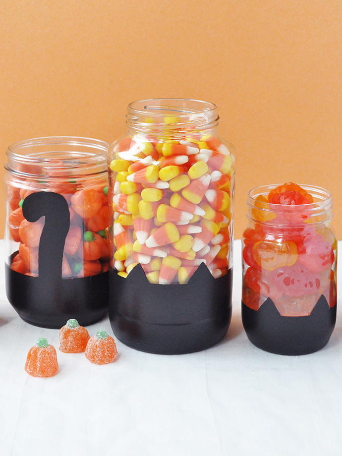 Black Cat Halloween Candy Display