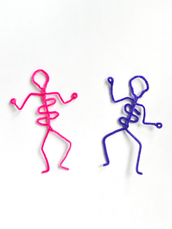 Pipe Cleaner Skeletons