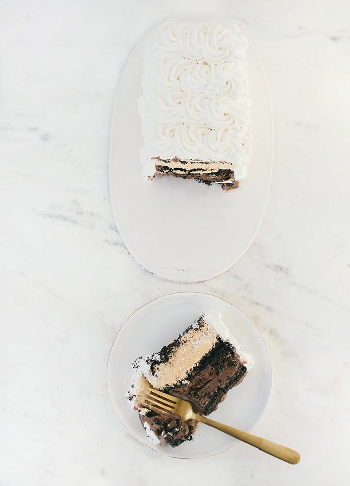 Pumpkin Chocolate Ice Cream Cake