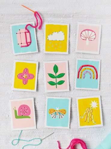 Painted Stitch Cards