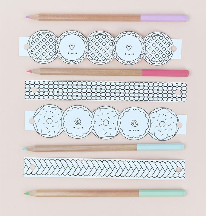 Sweet 'n' Simple Printable Bracelets