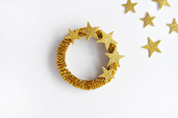 DIY Five Golden Rings Ornaments
