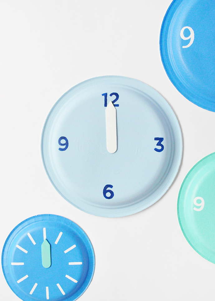 New Year's Eve Paper Plate Clocks