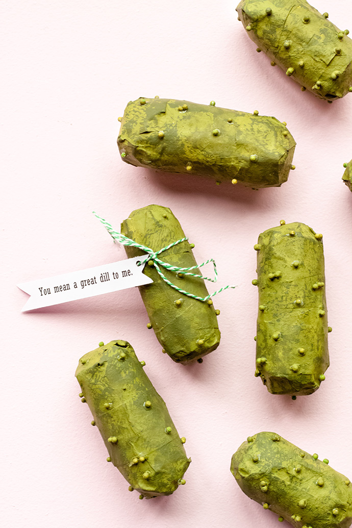 Pickle Piñata Valentines
