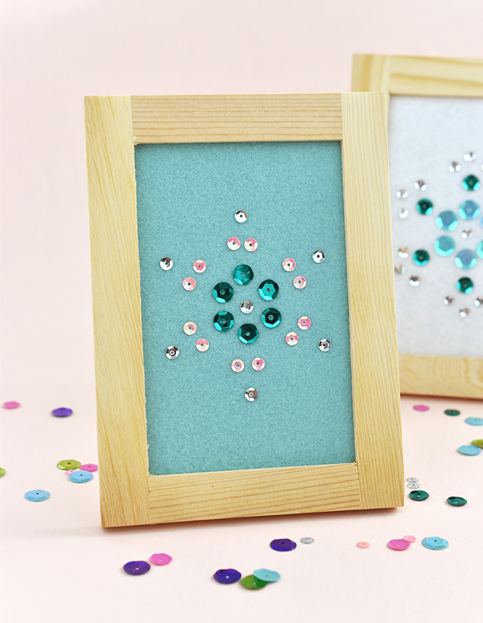 DIY Snowflake Sequin Art