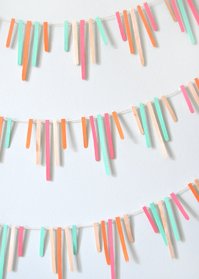 Painted Stir Stick Garland
