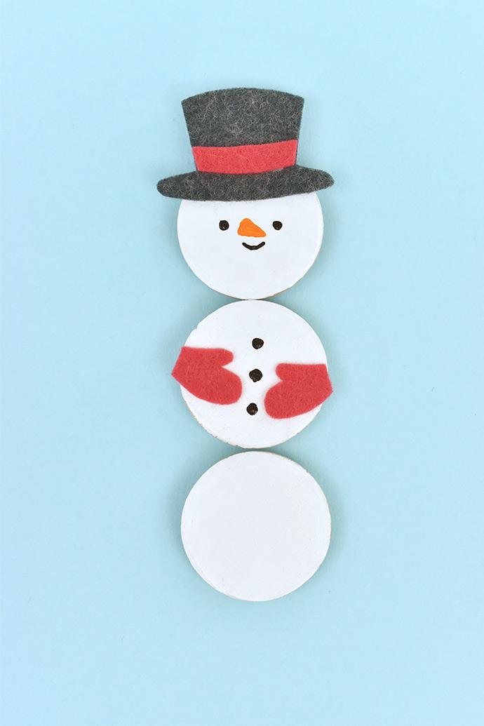 Mix 'n' Match Snowman Magnets