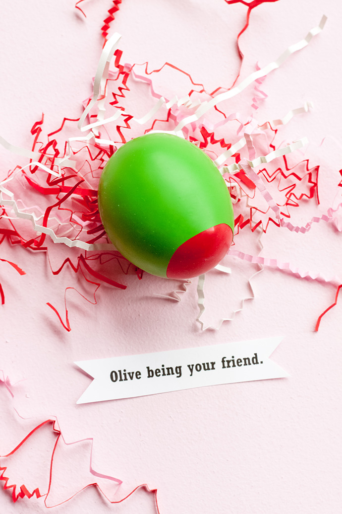 Olive Stress Ball Valentines