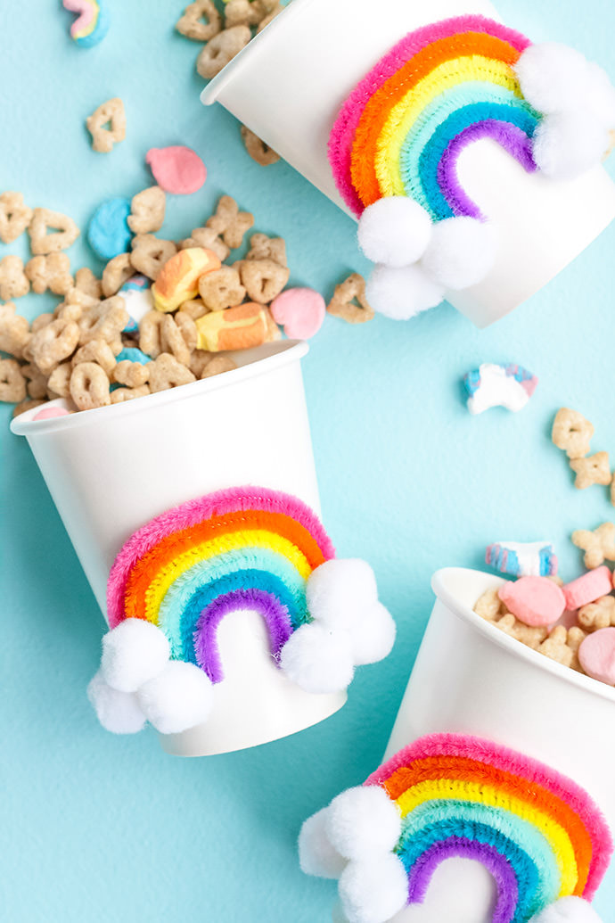 DIY Rainbow Party Cups