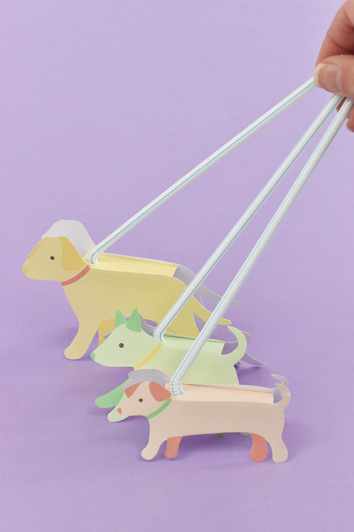 image relating to Printable Toy titled Printable Doggy Strolling Toys ⋆ Do-it-yourself Charlotte