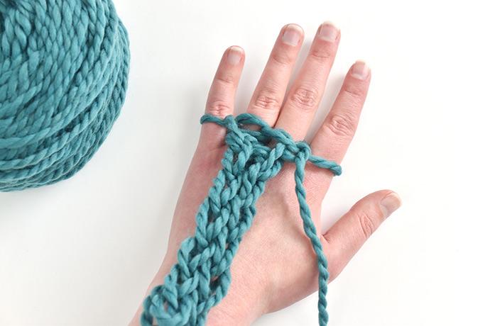 Finger-Knitted Shamrock Banner