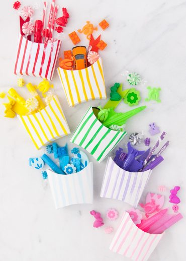 Painted Rainbow Fries Favors