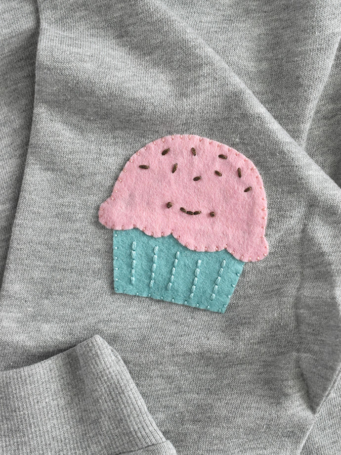 Sew Sweet Cupcake Elbow Patches