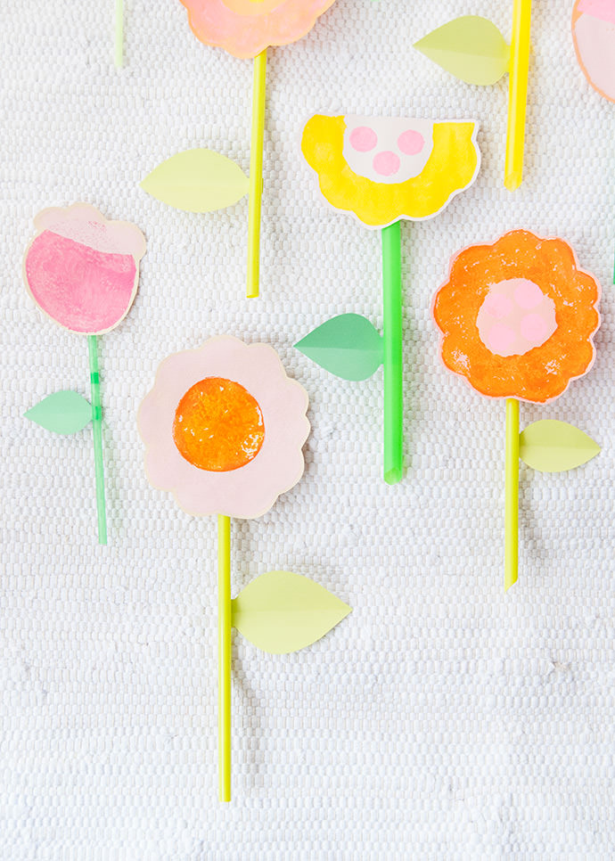 Veggie Stamped Easter Decorations