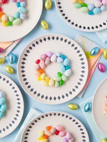 Rainbow Easter Egg Place Settings