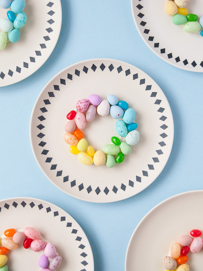 Rainbow Easter Egg Place Settings