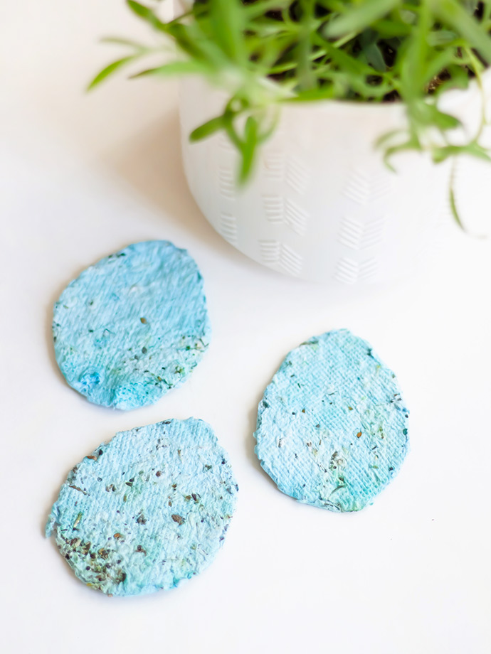 Seed Paper Easter Eggs