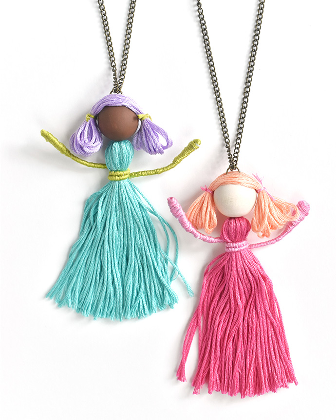 Tiny Dancer Tassel Necklace