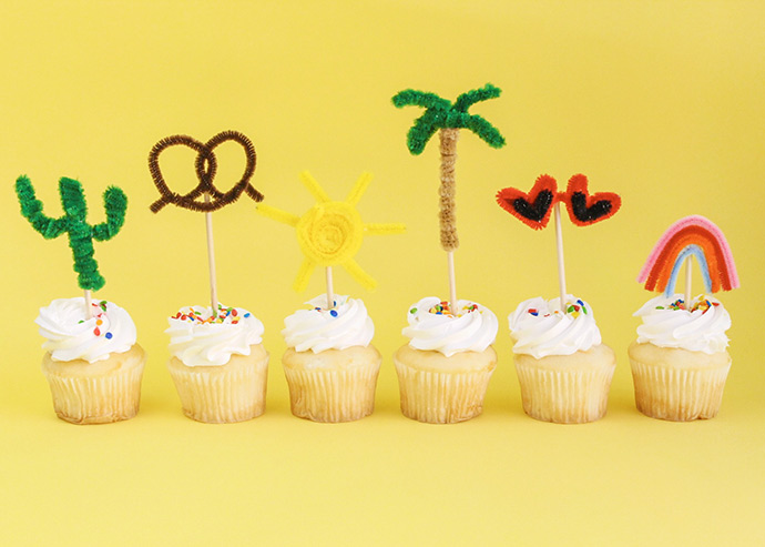 Summer Cupcake Toppers