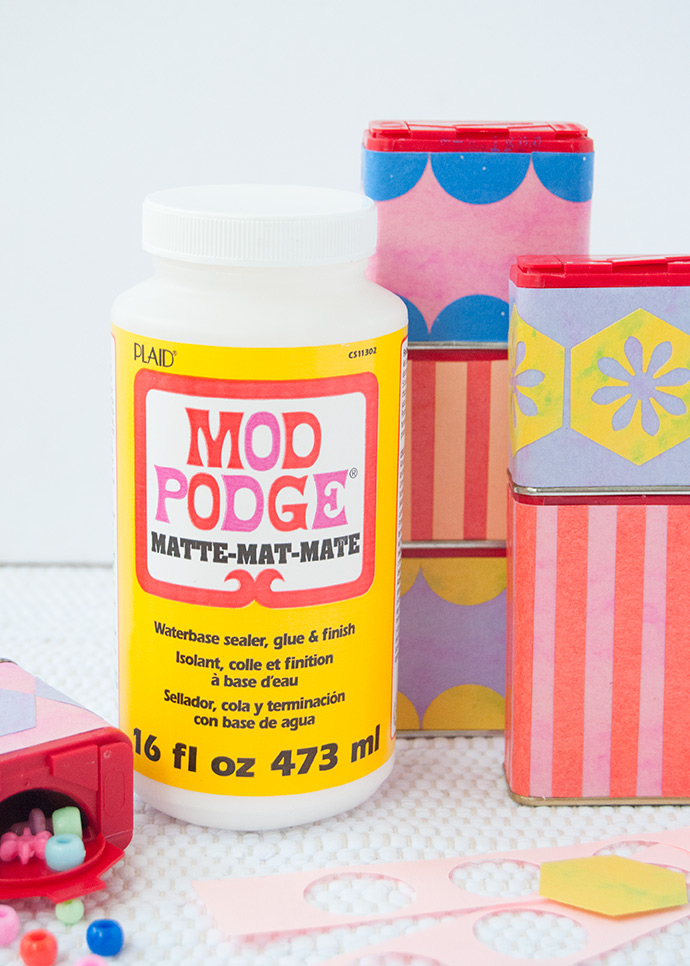 Mod Podge Upcycled Blocks