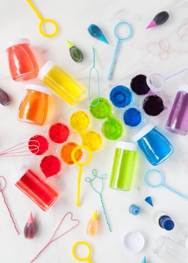 DIY Scented Rainbow Bubbles