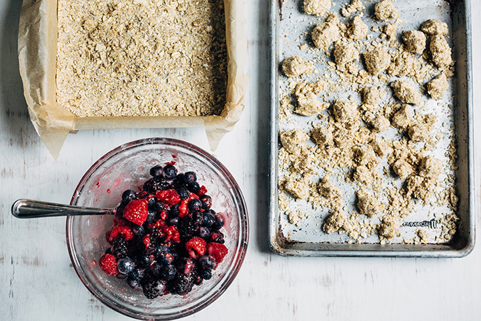 Triple Berry Oat Crumb Bars