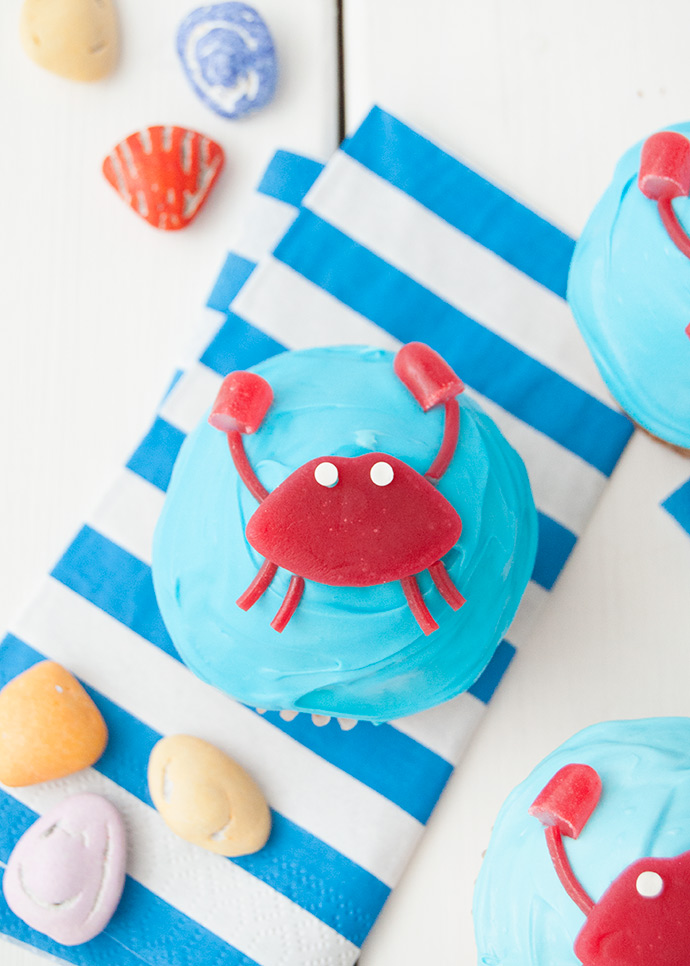 Under the Sea Crab Cupcakes