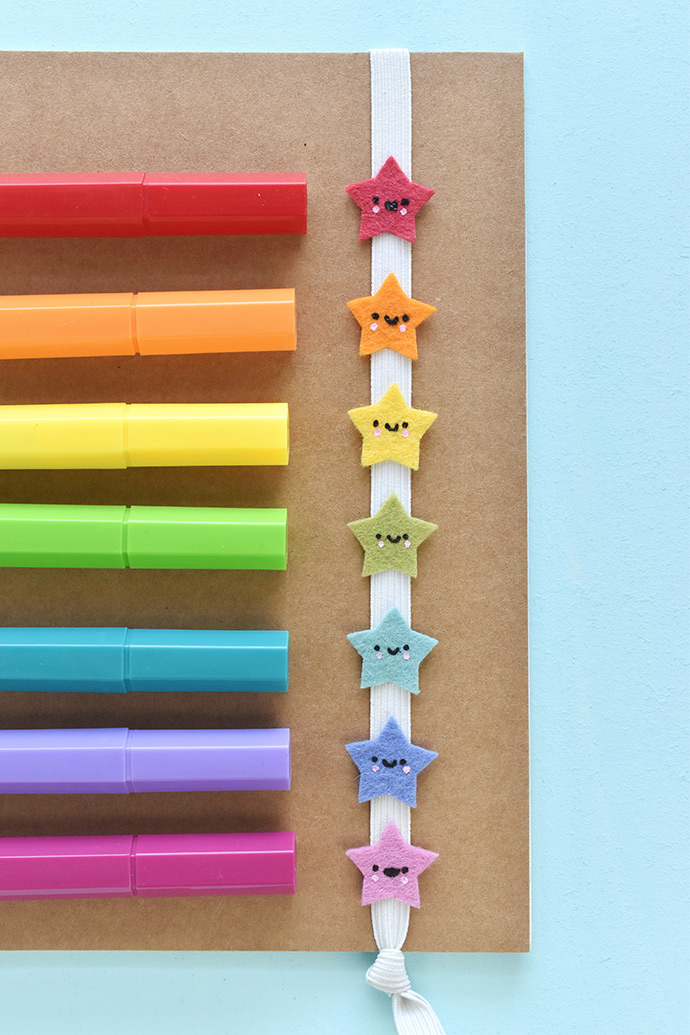 Kawaii Rainbow Book Bands