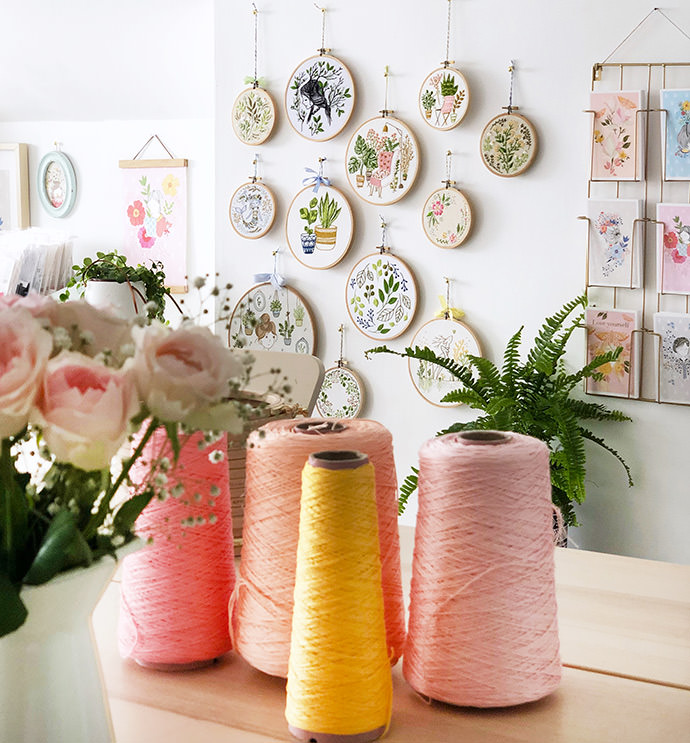 A Sneak Peak into an Embroidery Artist's Studio