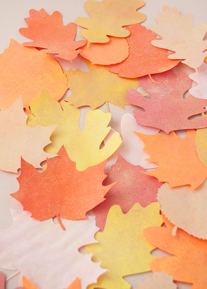 Chalky Fall Leaf Garland