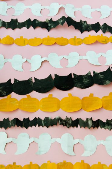 Recycled Paper Halloween Garland