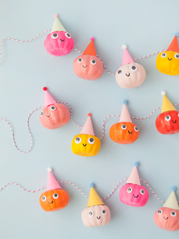 Party Pumpkin Garland ? Handmade Charlotte