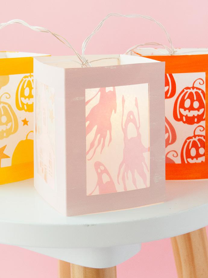 Rainbow Halloween Paper Lanterns