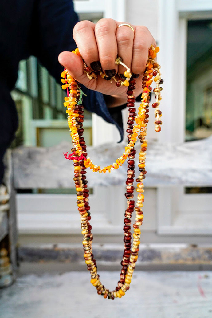 Indian Corn Necklaces