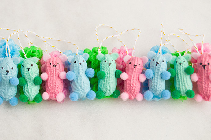 Peanut Squirrel Ornaments