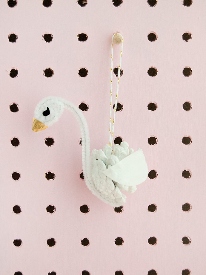 Pinecone Swan Ornaments