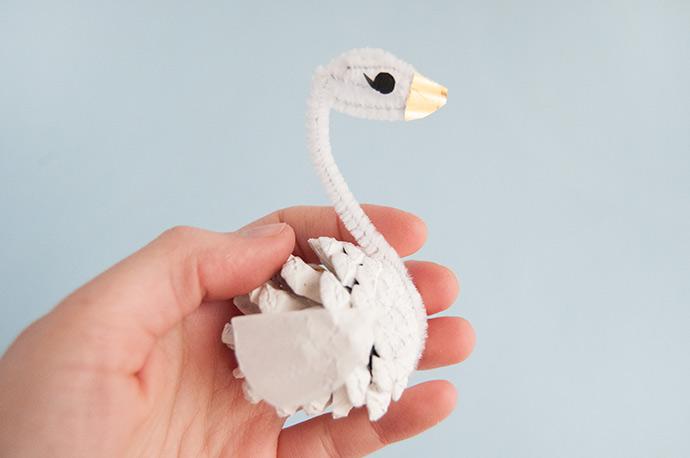 Pinecone Swan Ornaments