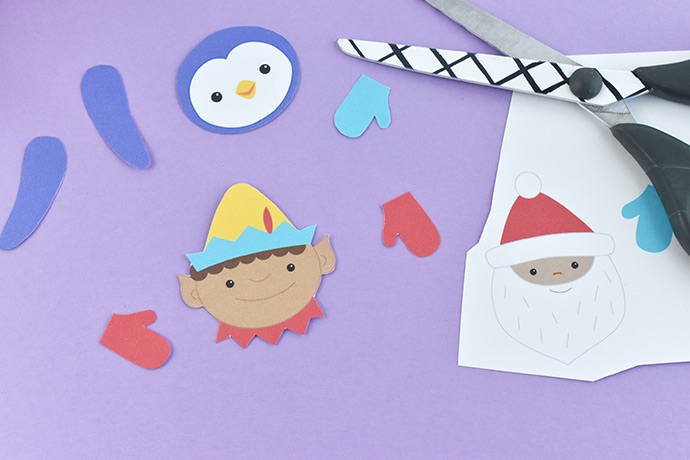 Printable Cut and Paste Christmas Ornaments