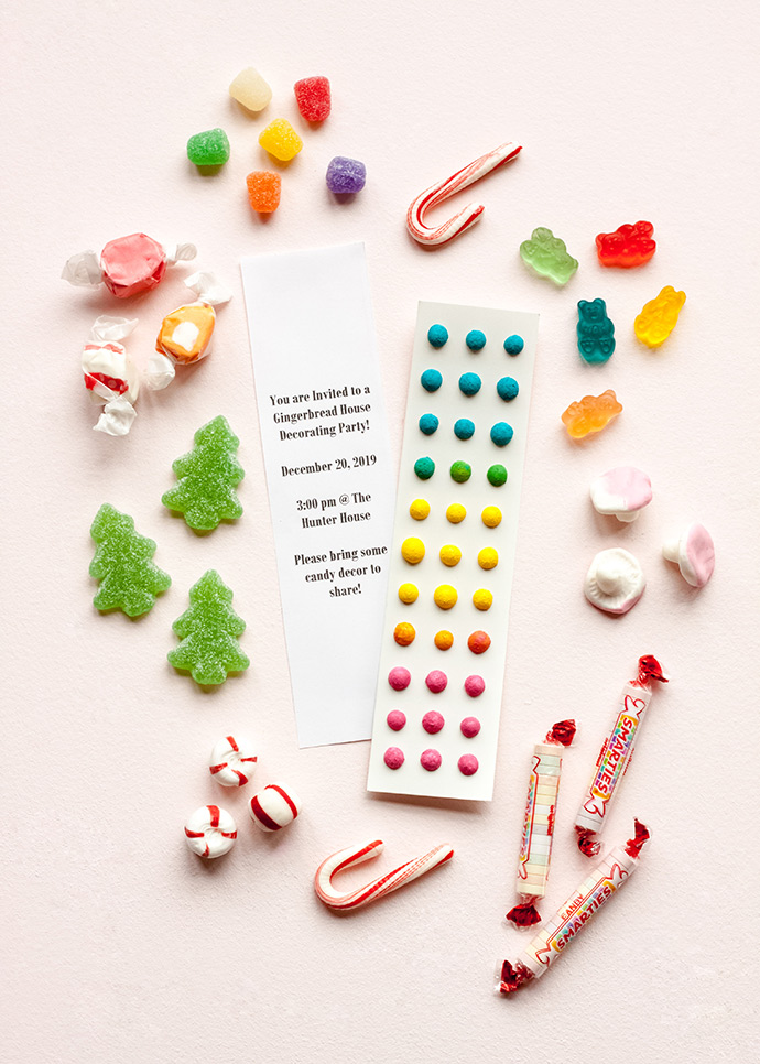 Faux Candy Button Invitations