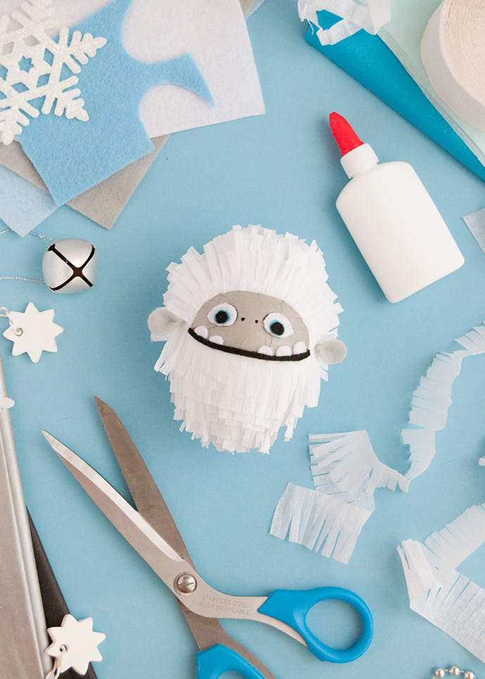 How To Make an Abominable Ornament